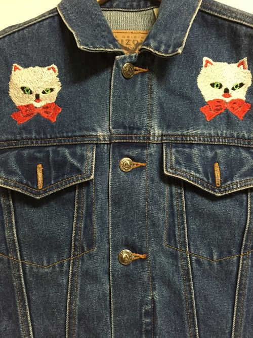 used denim vest