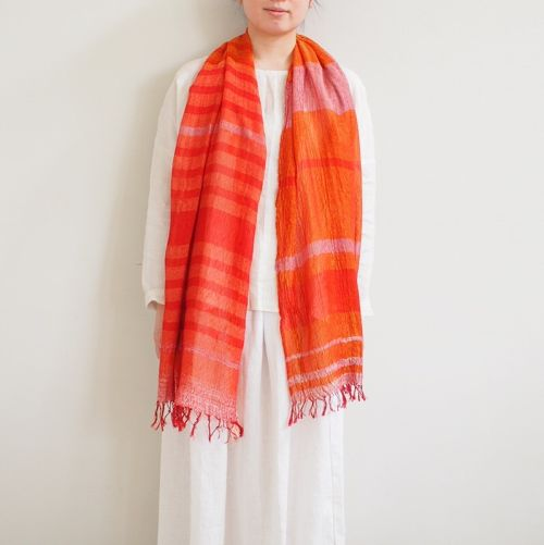 tamaki niime  roots shawl MIDDLE cotton100%  A~H 玉木新雌