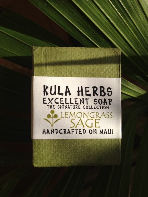 KULA HERBS    EXCELLENT SOAP    lemongrass sage 4oz(120g)