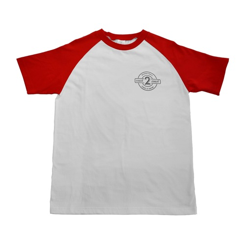"""""""SUPER SALE""""  Raglan Sleeves T-SHIRTS/ RED size S,M,L and XL"""