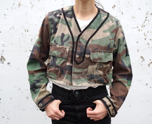 """BDU BASEBALL JKT cut off"" size:ONE SIZE(women's)"