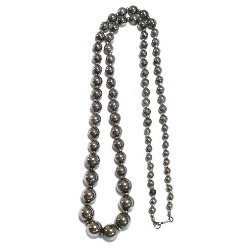 Vintage Mexican Sterling Silver Beads Necklace
