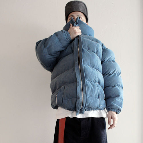 Lactose Intoler-art(ラクトス) 1off super-puff jacket