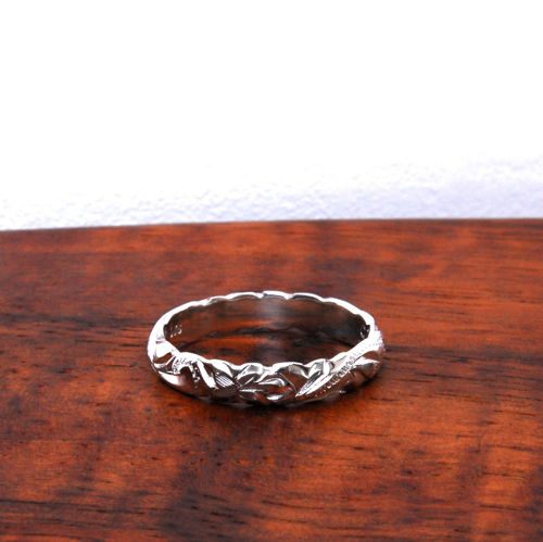 Hawaiian Jewelry Silver 925 4mm幅RING