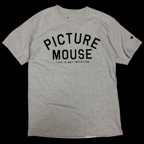 PICTURE MOUSE■not imitation Tsh(GREY)