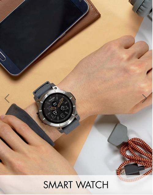 Nixon The Mission Smart Watch In Grey