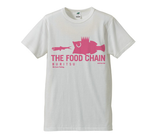 BURITSU THE FOOD CHAIN T Tri-Blend : White×Pink