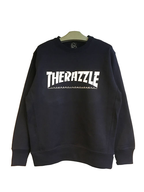 RAZZLE / THE RAZZLE Crew Neck / NAVY