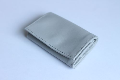 PLAY WALLET - LEATHER[LIGHT GRAY]