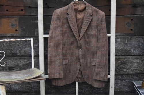 60s vintage Harris Tweed  tailored JKT