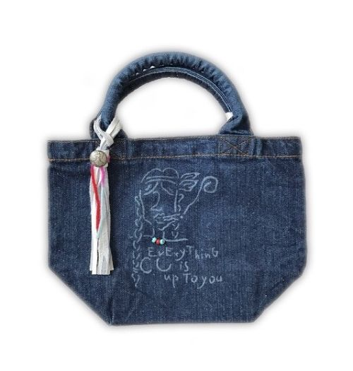 SALE40% Girl Denim tote bag