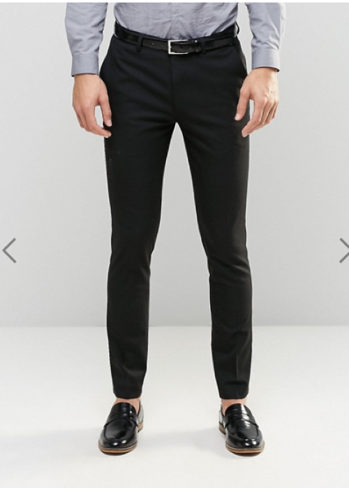 ASOS Skinny Suit Trousers In Black