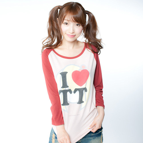 TT Raglan T-shirts(Red × Pink)