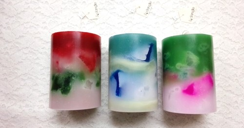 Dangle Candyキャンドル * Marble Colored Candle by Dangle Candy