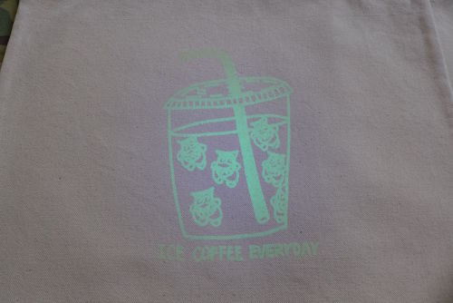CRASTY ICE COFFEE TOTE BAG (GROW IN THE DARK)