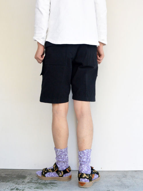 ARAN アラン MCP-SHORTS C/N RIP BLACK