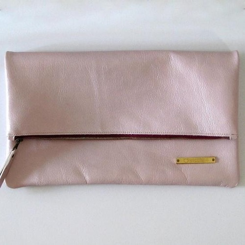 BICOLOR CLUTCH pink-gold X 2