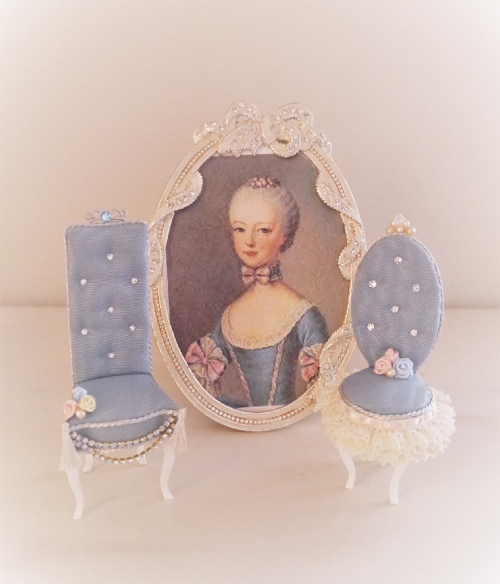 Princess  Charm  Chair           Flower  Princess                  プリンセスチャームチェア                      フラワープリンセス               (ブルー)