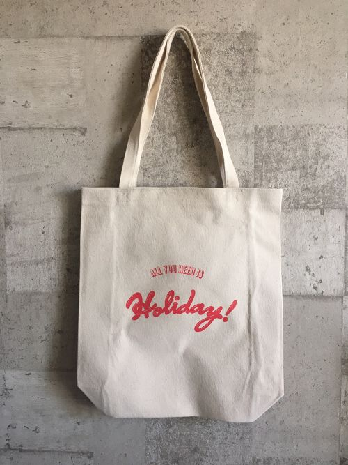 ALL YOU NEED IS HOLIDAY! トートバッグ(レッド)