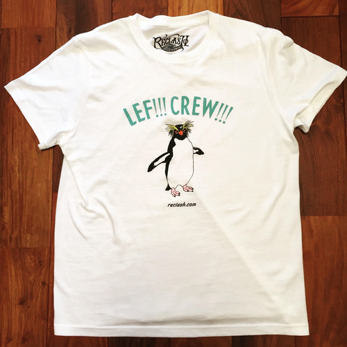 "LEF!!! CREW!!! ""one-man"" Tee -NATURAL- *ステッカー2種付き"