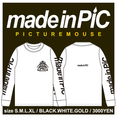PICTURE MOUSE■long sleeve(WHITE)