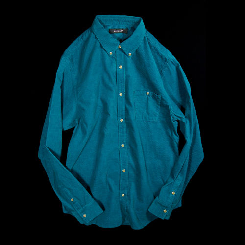AIR CORDUROY SNAP SHIRTS TURQUOISE