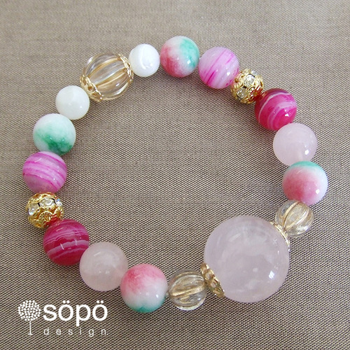 049. power stone jewelry bracelet -rose-