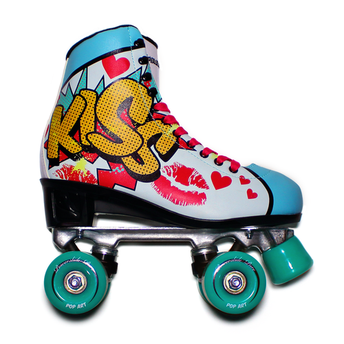 "Powerslide "" Pop Art Kiss "" Quad Rollerskate"