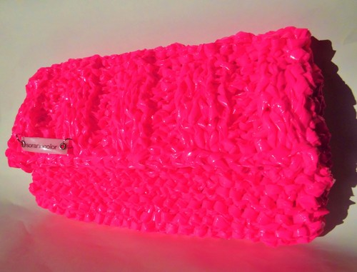 """pink neon party ""  gummy candy   clutch bag"
