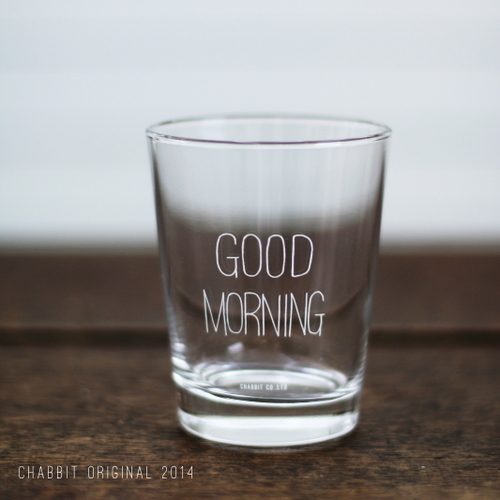 GOOD MORNING GLASS (WHITE)