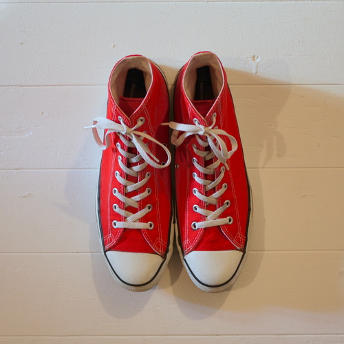 """CONVERSE 1990's ALL STAR """"Made in USA"""" Size13 red"""
