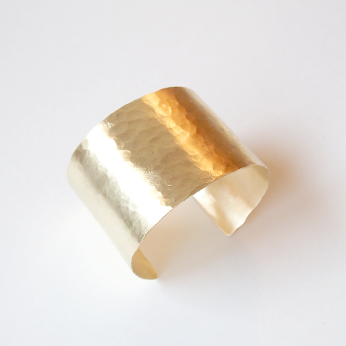 Brass texture bangle L