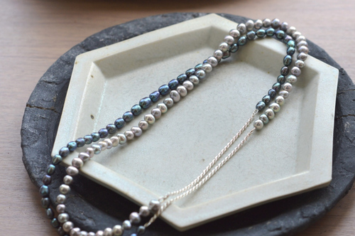 """""""in-ei"""" pearl Long Necklace"""