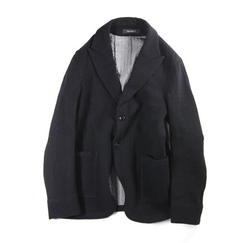 WOOL& COTTON FABRIC JACKET