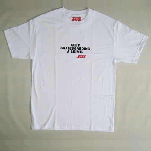【JUICE MAGAZINE】KEEP SKATEBOARDING A CRIME SLEEVE T-SHIRTS