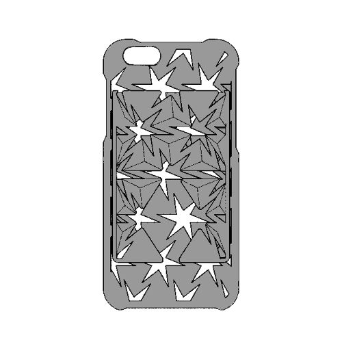 Auxetic pattern iPhone case 6 / 6s_Black