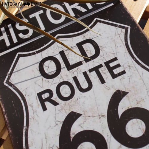 サインボード HISTORIC OLD ROUTE66 [LPR60004]