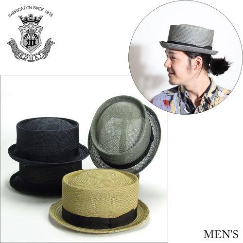 Edo Hat / Straw Porkpie Hat
