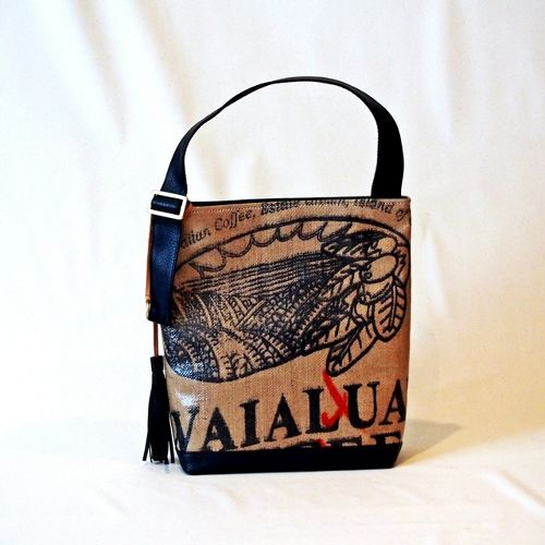 ONE SHOLDER TOTE/black(leather col)・Hawaii