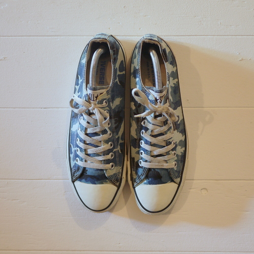 "CONVERSE 1990's ALL STAR ""Made in USA"" Size8 1/2 camouflage"