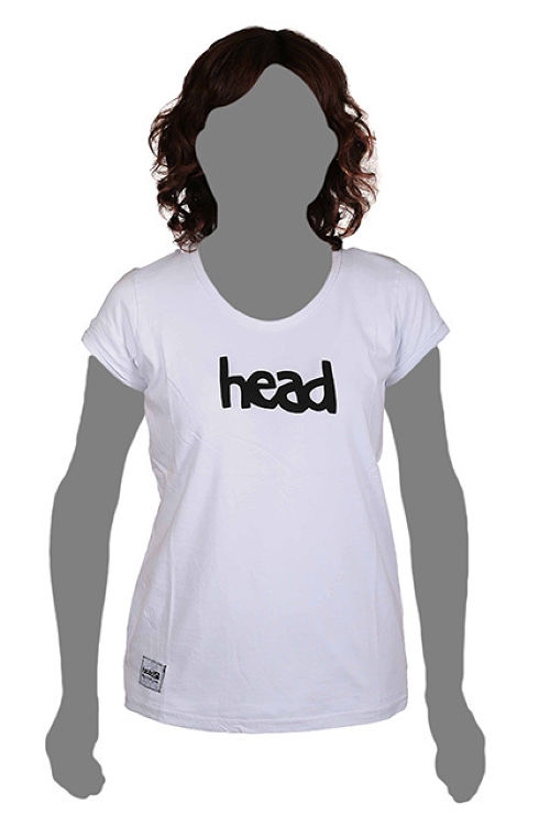 LOGO T-SHIRT WOMEN White(head) -レディス-