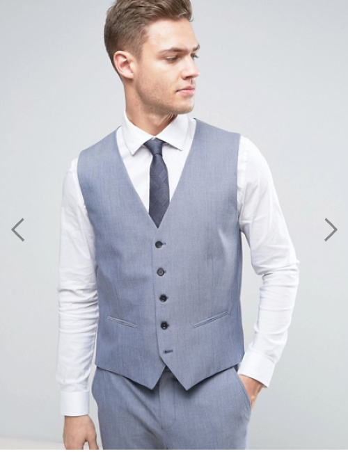 Selected Homme Wedding Super Skinny Waistcoat