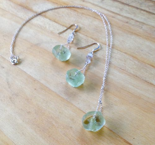 Sea glass*Necklace(earings are sold out)
