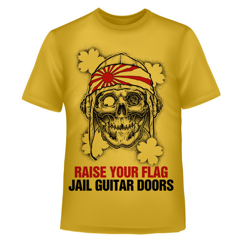 T-SHIRT「RISE YOUR FLAG」YELLOW