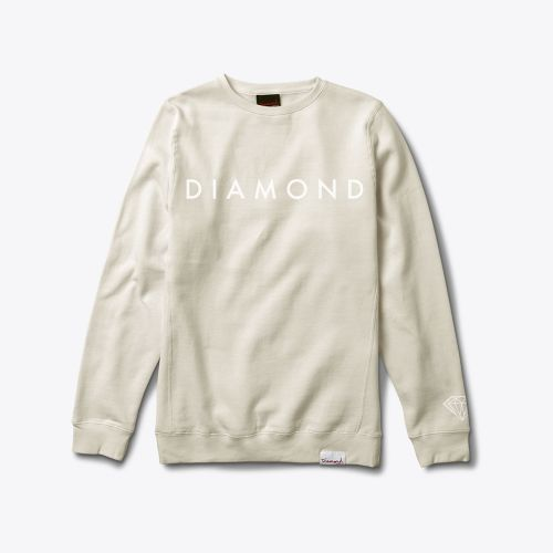 Diamond Supply Co. - FACET TONAL Crewneck CREAM