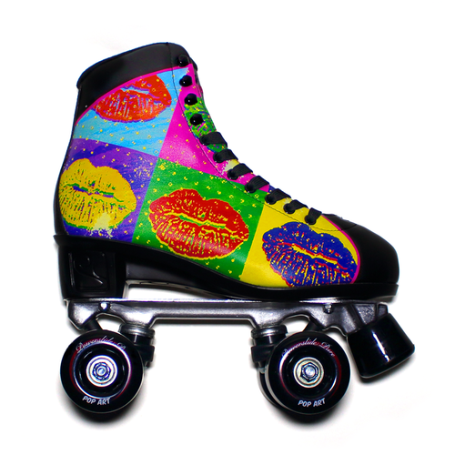 "Powerslide "" Pop Art Lips "" Quad Rollerskate"