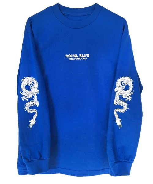 HOTEL BLUE DRAGON L/S TEE ROYAl BLUE