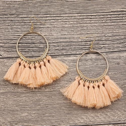 Fringe hoop pierce/orange