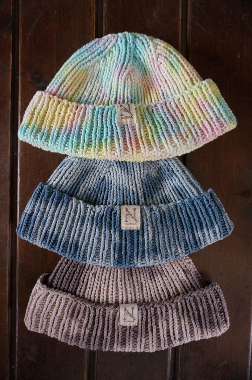 "NEUTRAL ""KNIT-CAP【TIE-DYE】"""