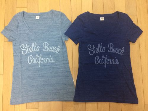 lady's Vneck☆Stella Beach California☆T-shirt